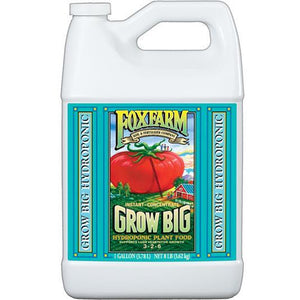 FoxFarm Grow Big Hydro Liquid Concentrate- 3-2-6 - 1 Gallon - Seed World