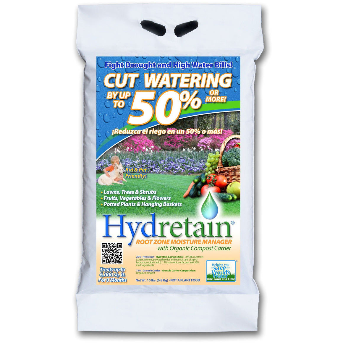 Hydretain Granular Moisture Manager - 15 Lbs. - Seed World