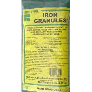 Iron granules fertilizer