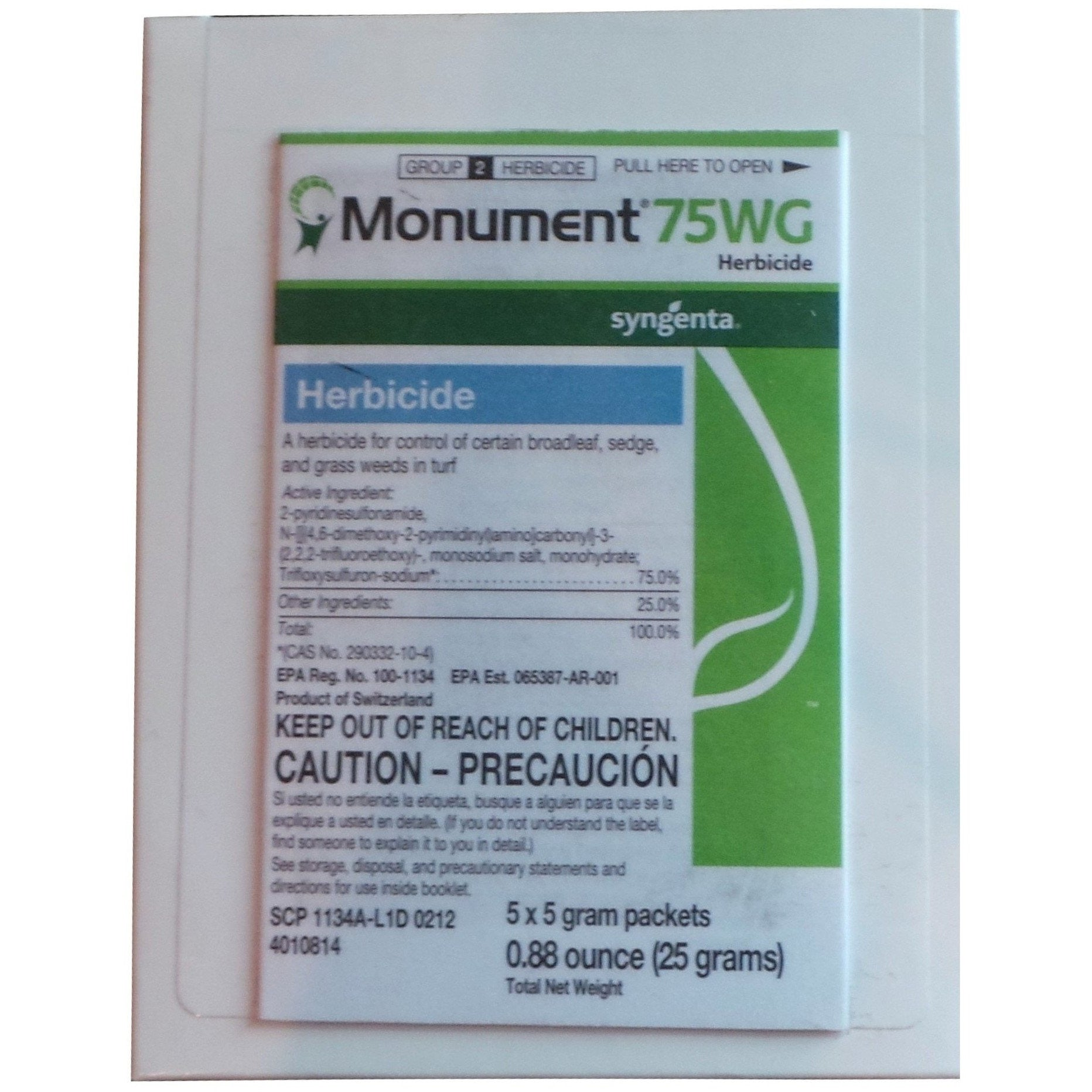 Monument 75WG Herbicide - 5 x 5 gram packets
