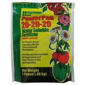 PowerPak 20-20-20 Soluble Fertilizer - 1 Lb.