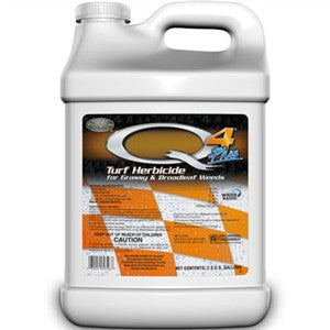Q4 Plus Broadleaf Weed Herbicide (Controls Nutsedge, Foxtail, Crabgrass) - 2.5 Gallon