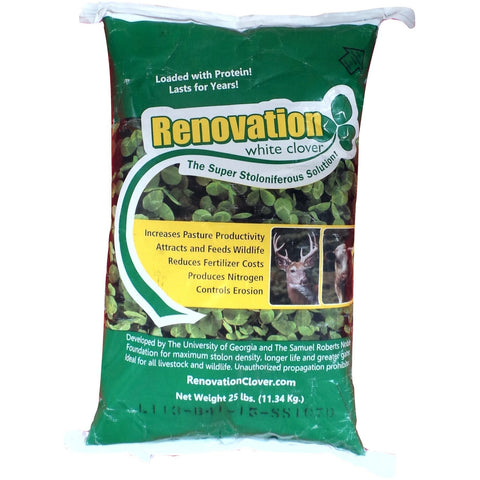 Renovation White Clover Seed - 1 Lb.
