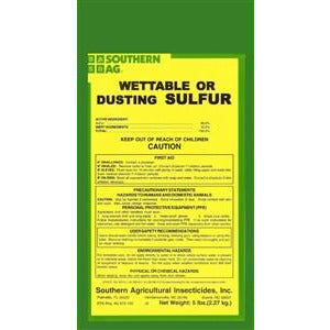 Wettable or Dusting Sulfur Fungicide - 5 Lbs.