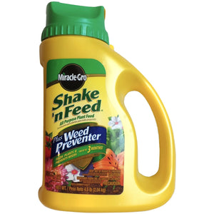 Miracle Gro Plant Food Weed Preventer - 4.5 Lbs. - Seed World