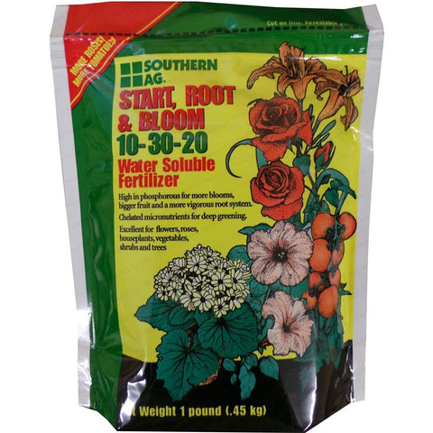 Start, Root and Bloom 10-30-20 Water Soluble Fertilizer - 1 Lb.