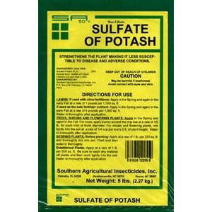 Sulfate of Potash 0-0-50 Granular Fertilizer - 20 Lbs.