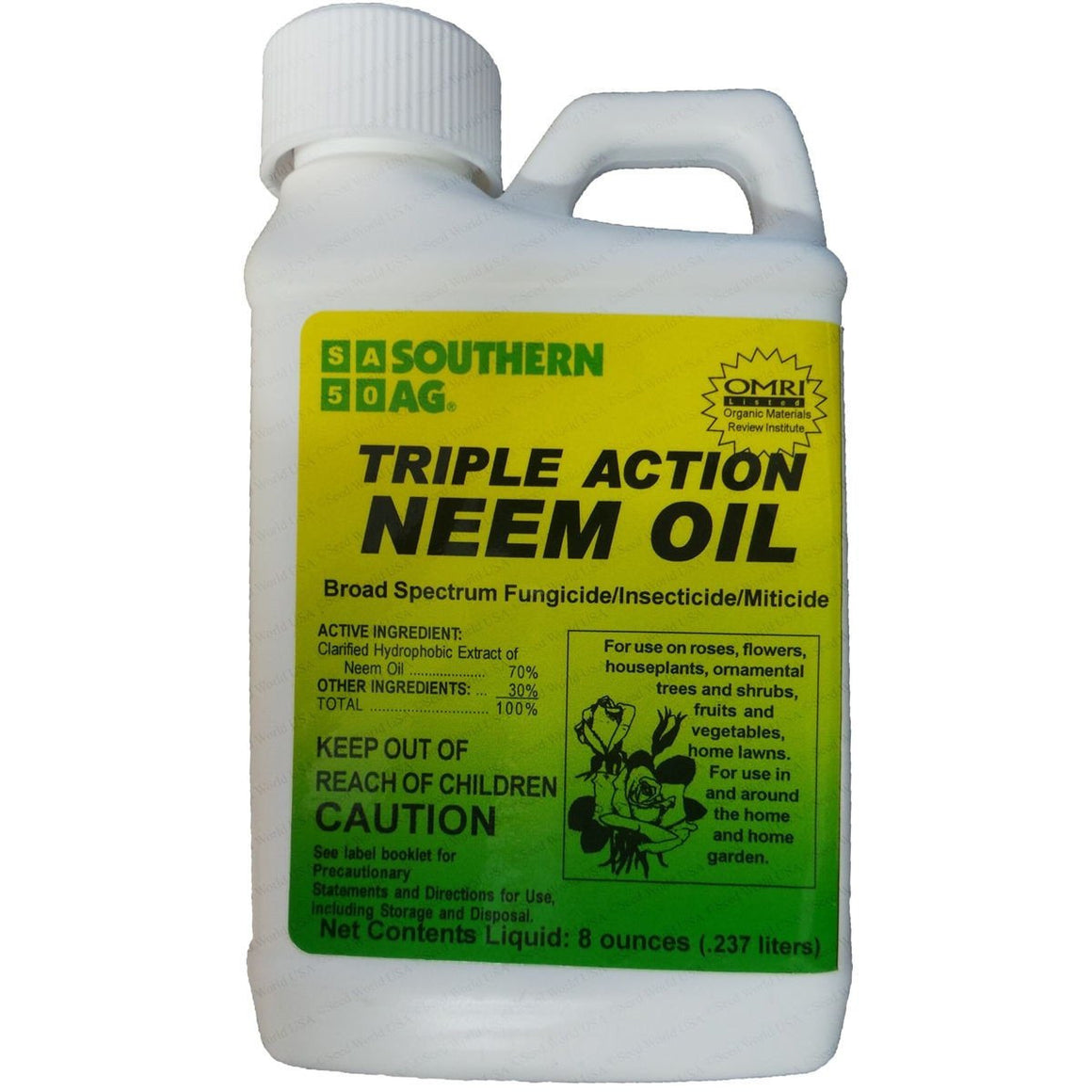 Southern AG Triple Action Neem Oil - 8 Oz.