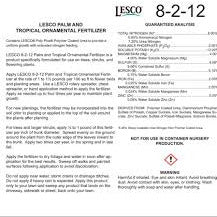Lesco Palm and Ornamental 8-2-12 Fertilizer - 50 Lbs. - Seed World