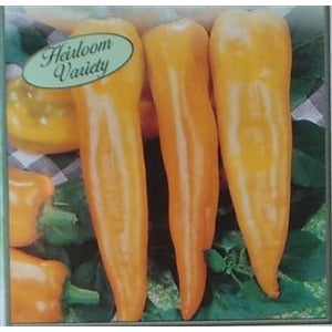 Pepper Yellow Hungarian Hot Seed Heirloom