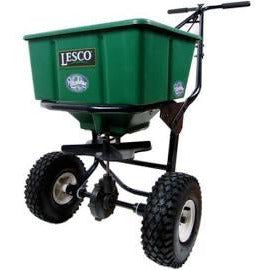 Lesco Push Spreader Carbon Steel - 50 lb. Hopper 092807