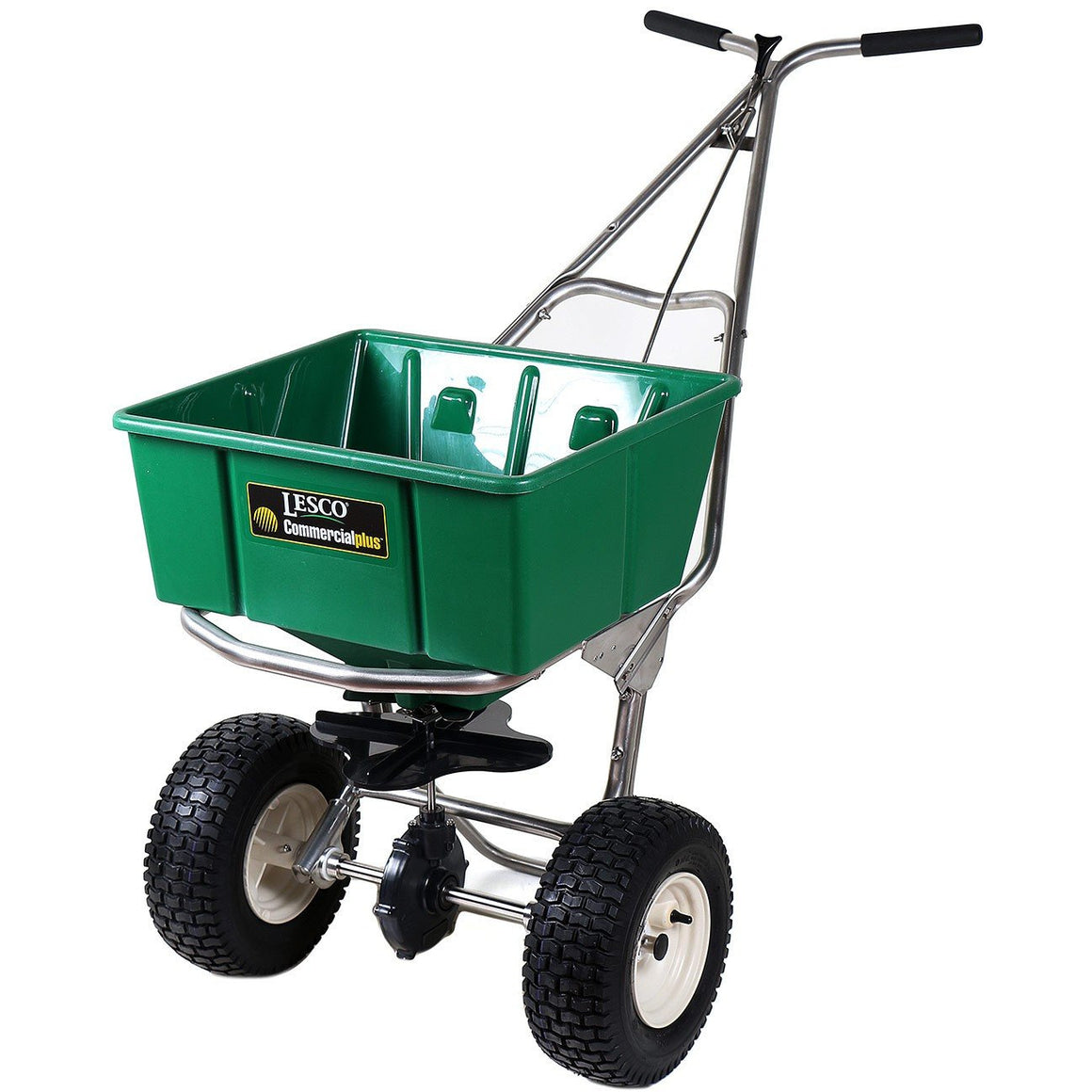 Lesco Stainless Steel Ice Melt Spreader - 80 Lbs. Hopper 102821