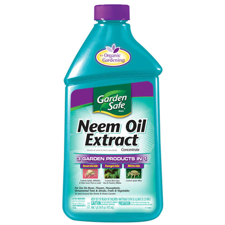 GardenSafe Neem Oil Extract Concentrate - 1 Pint.