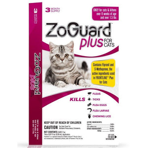 ZoGuard Plus For Cats - 3 month supply