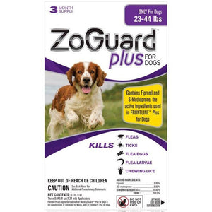 ZoGuard Plus For Dogs - 3 month supply (23-44 lbs)