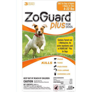 ZoGuard Plus For Dogs - 3 month supply (4-22 lbs)