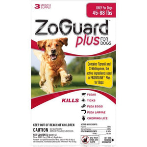 ZoGuard Plus For Dogs - 3 month supply (45-88 lbs)