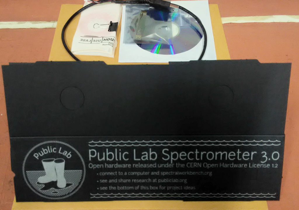 Papercraft Desktop Spectrometer BETA