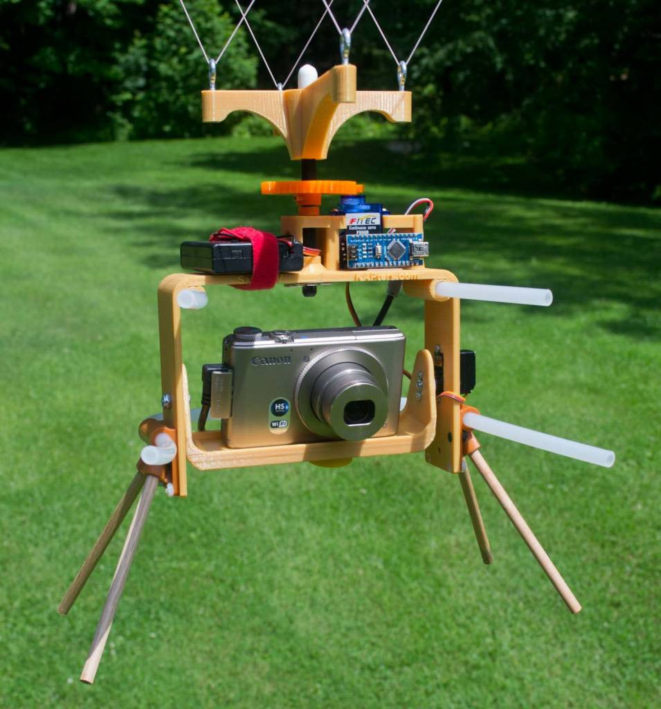Saturn V Adjustable RC Aerial Photography Rig