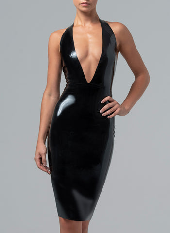 Latex Venus Plunge Dress