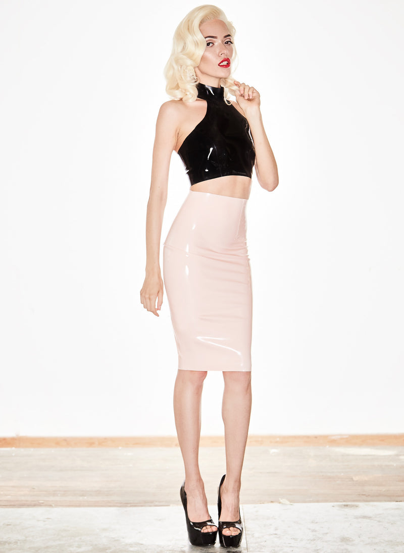 Latex Star Pencil Skirt