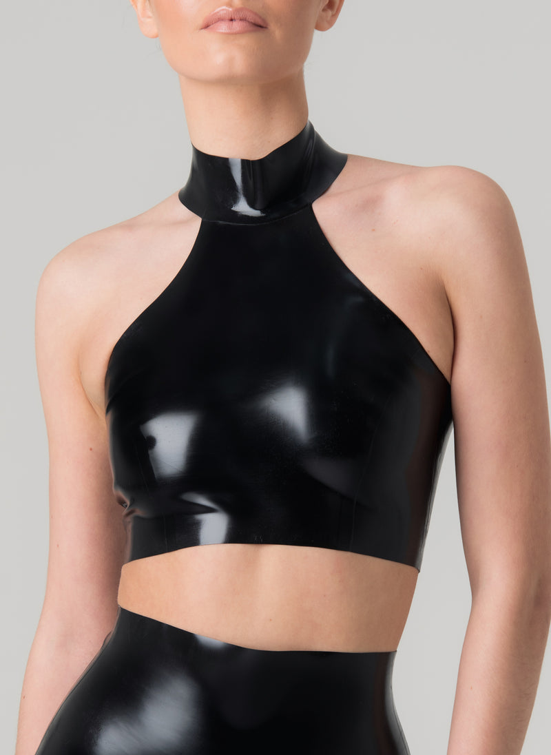 Latex Groove Halter Top