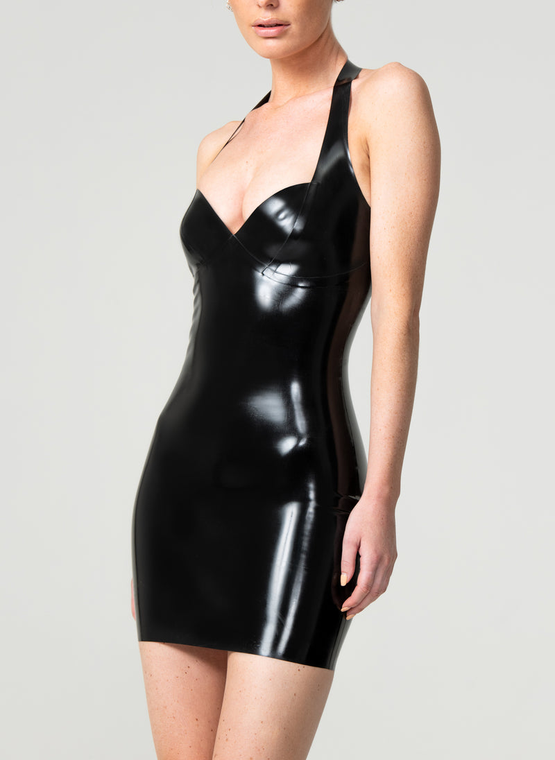 Latex Angel Halter Dress
