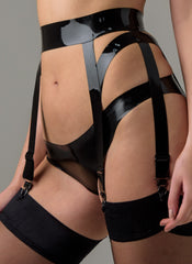 Latex Ballet Suspender Belt