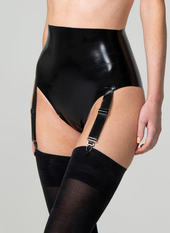 Latex Midnight Suspender Knix