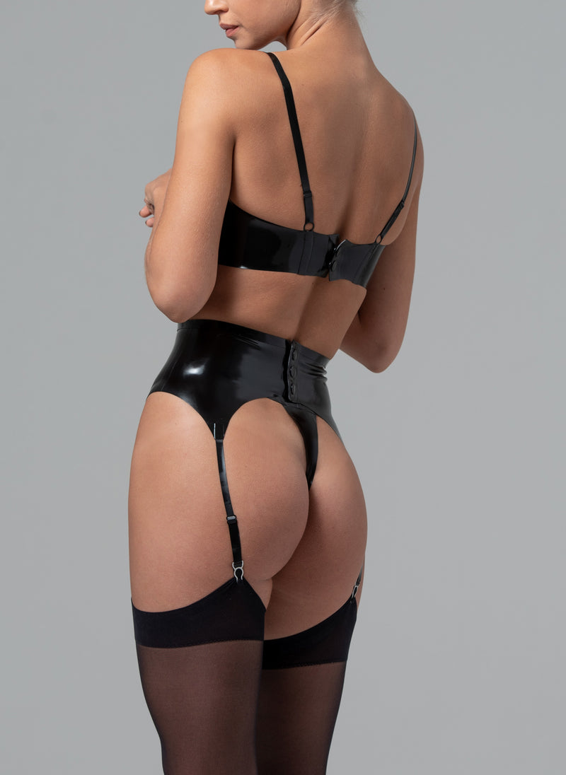 Latex Marilyn Suspender Belt