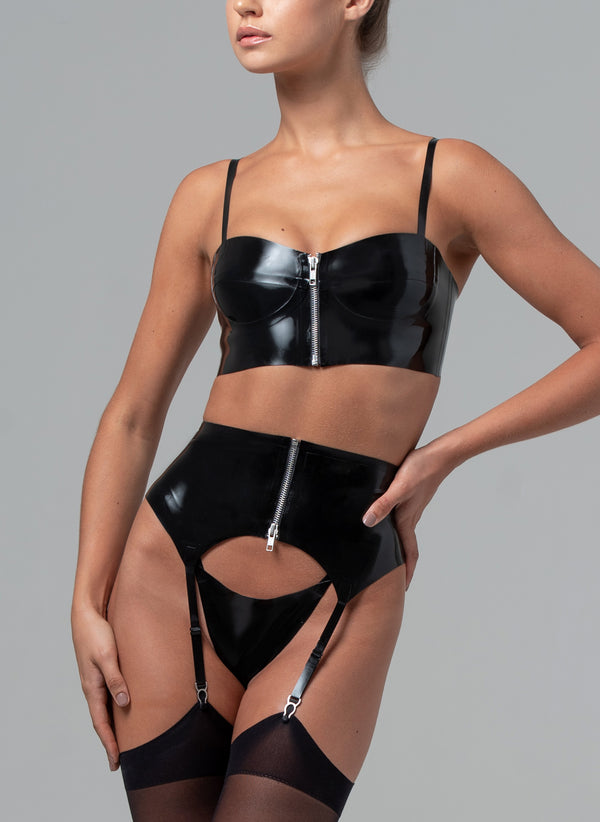 Latex Bad Girl Lingerie Set