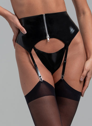 Latex Bad Girl Suspender Belt