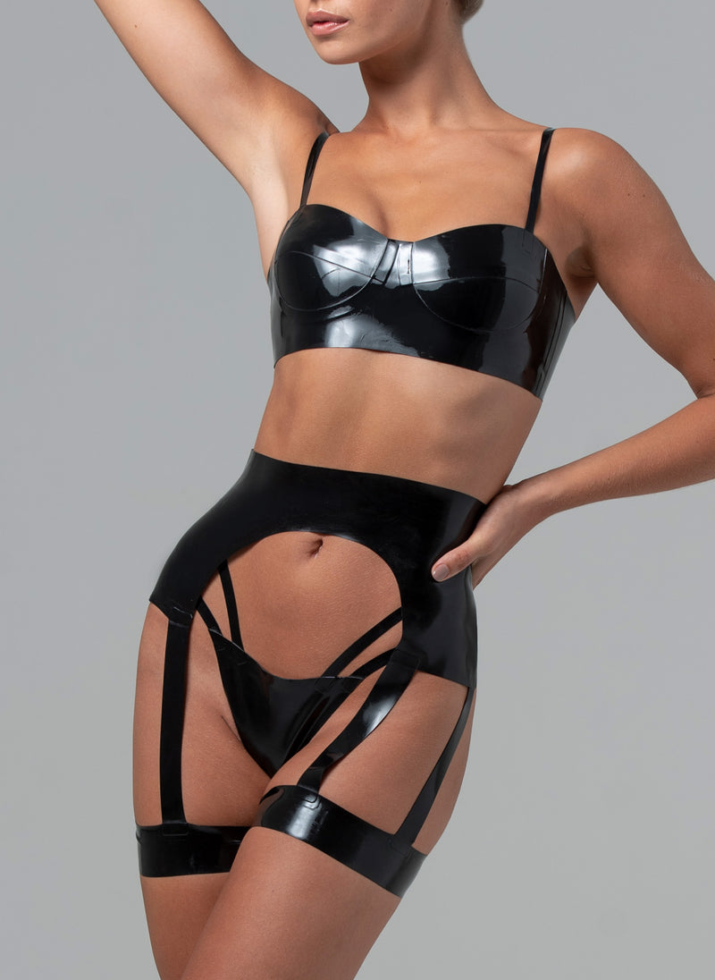 Latex Lady Boss Lingerie Set