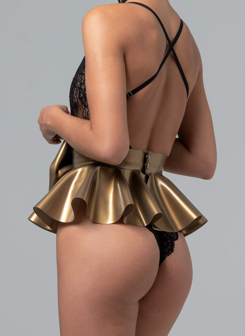 Latex Midas Bow Belt