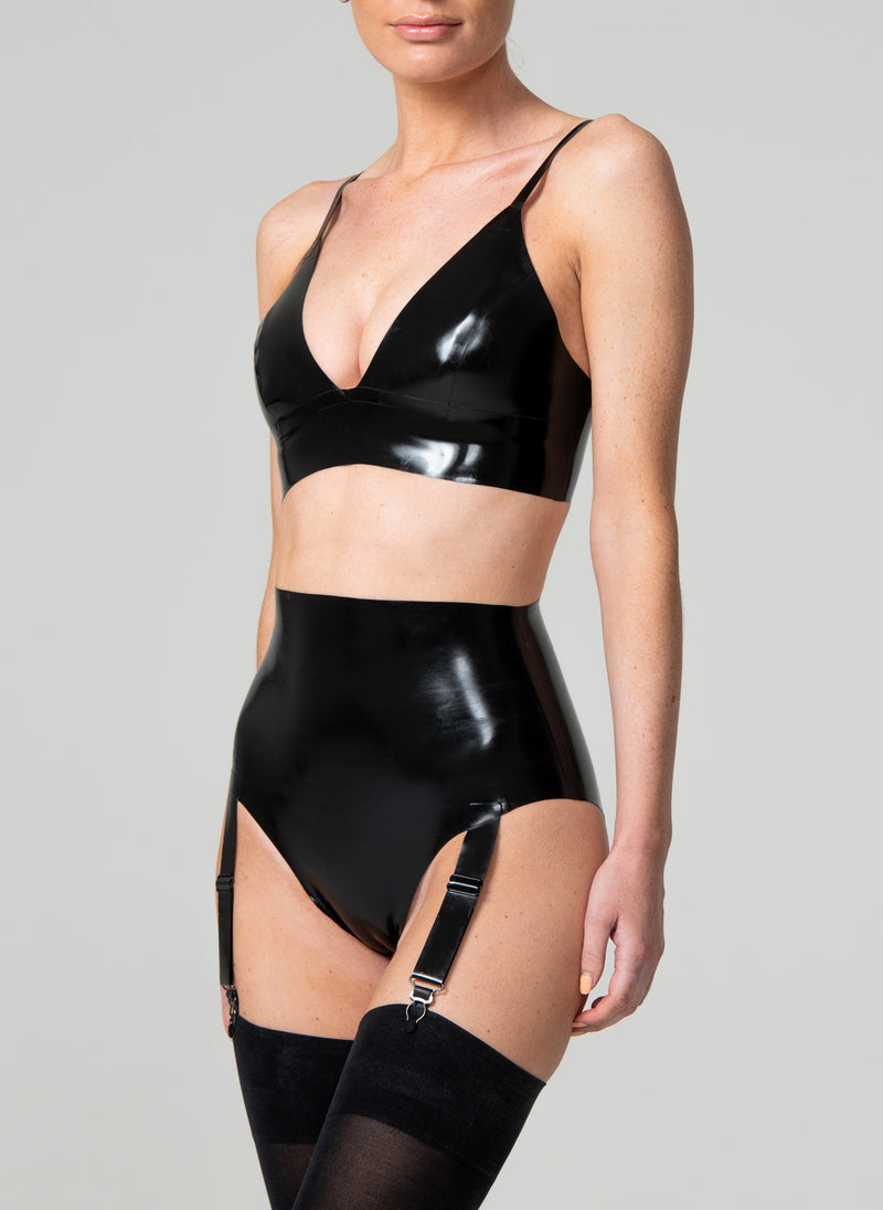 Latex Midnight Lingerie Set
