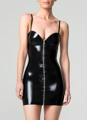 Latex Mansfield Mini Dress