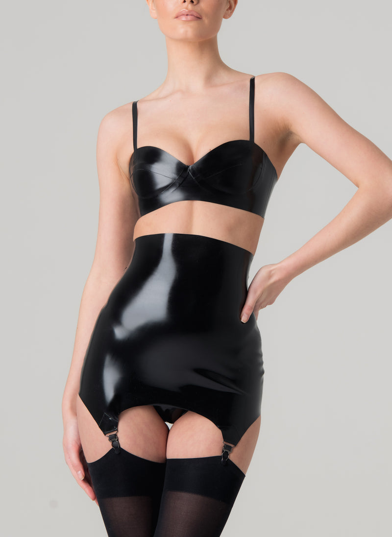 Latex Kiss Lingerie Set