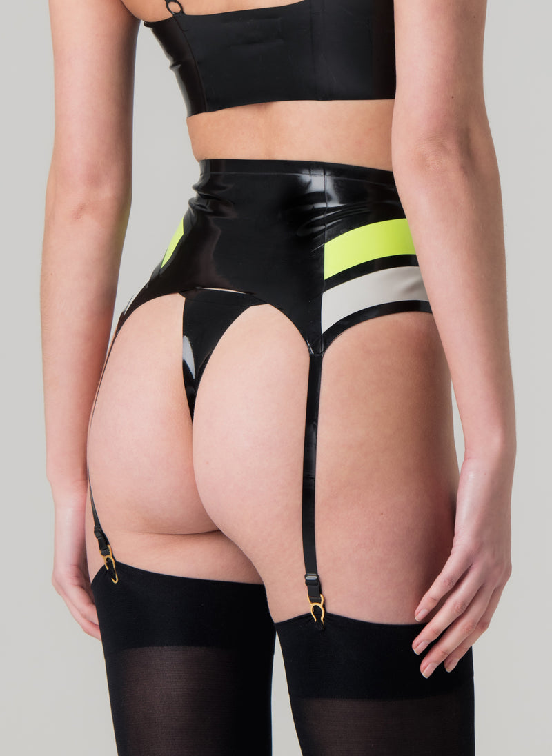 Latex Liaison Suspender Belt