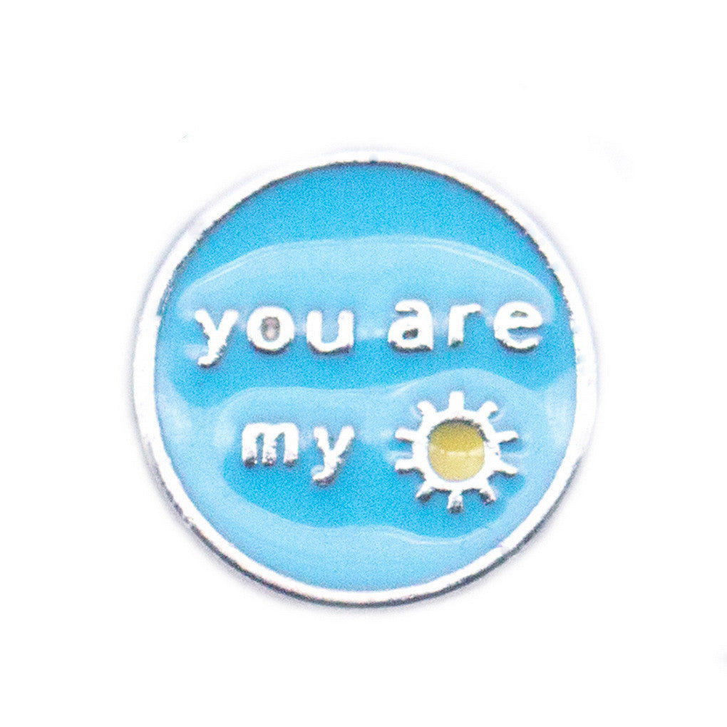 Floating charms You are my sunshine and 5 birthstones locket Charm Bracelets necklace - Pendants and Charms