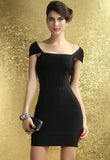 Black Cut Out back Bandage Dress - Pendants and Charms