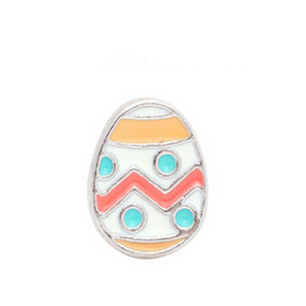 Floating charms Easter Egg  5 birthstones locket Charm Bracelets necklace - Pendants and Charms
