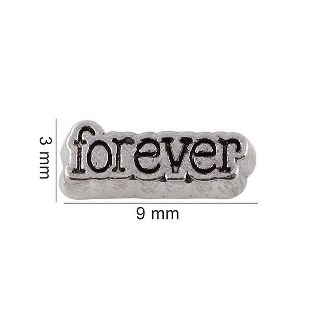 Floating charms forever 5 birthstones locket Charm Bracelets necklace - Pendants and Charms