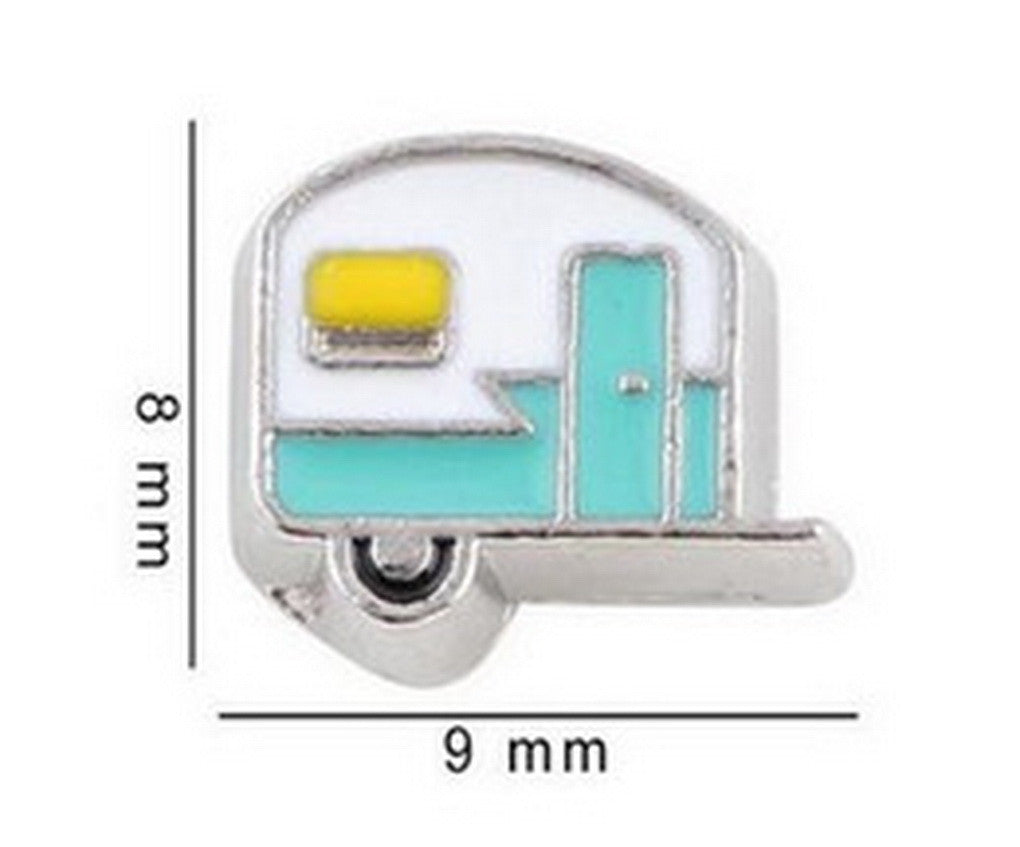 Floating charms Camper Trailer Cmping 5 birthstones locket Charm Bracelets necklace - Pendants and Charms