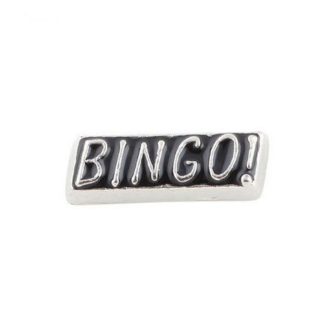 Floating charms BINGO and 5 birthstones locket Charm Bracelets necklace - Pendants and Charms