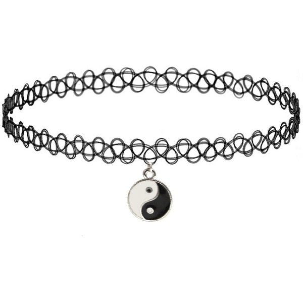 Copy of Tao tatoo choker necklace Gothic Black  Classic Choker Necklace - Pendants and Charms