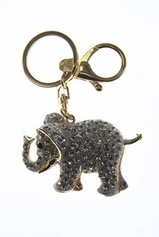 Rhinestones Elephant Key Ring Key Chain Charm Pendant Accessory Handbag Diamante Charm