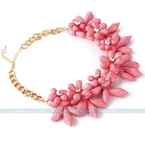 Women Charm Crystal Choker Chunky Statement Bib Necklace Chain