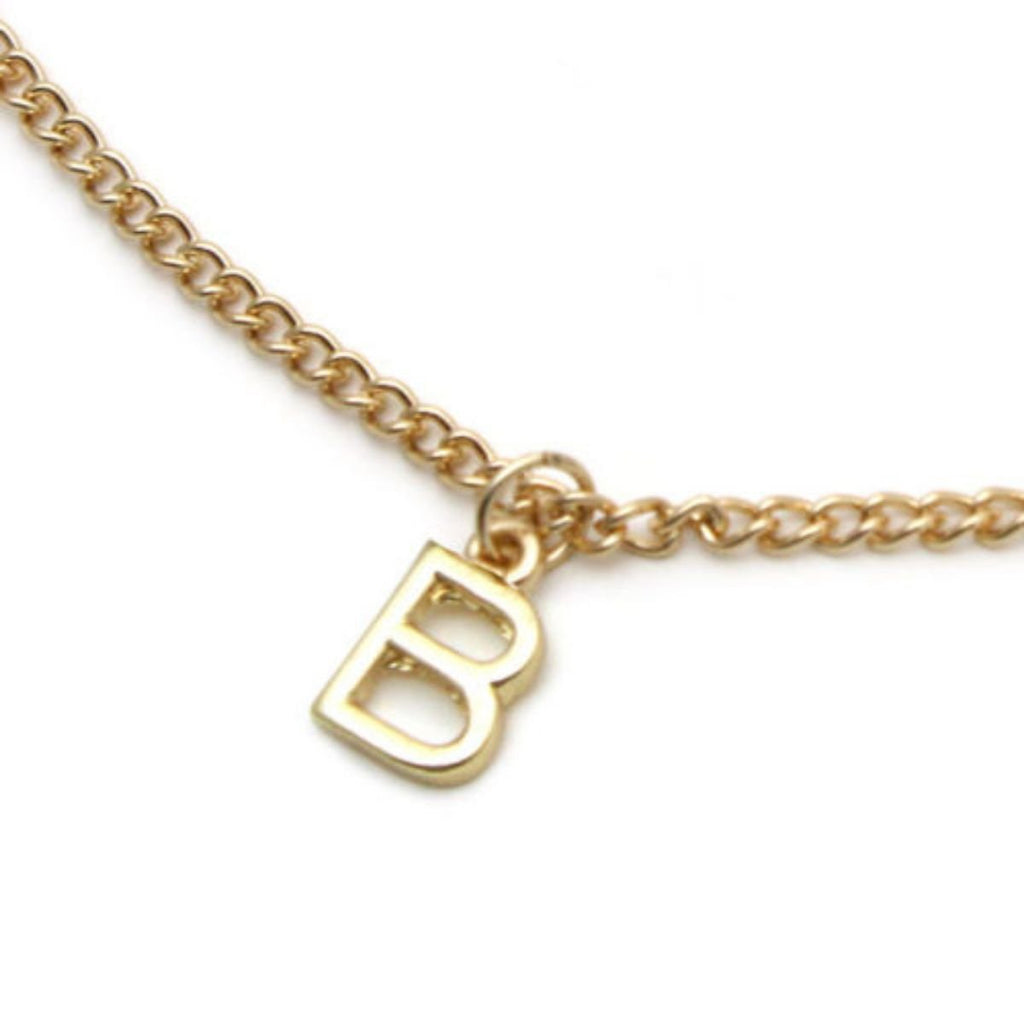 A-Z Initial Alphabet Gold Pendant Necklace in an Organza Bag