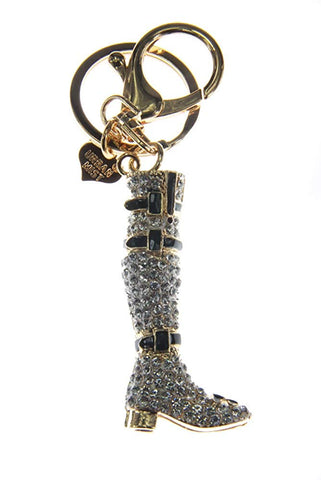 Rhinestones Boot Shoe Heels Key Ring Key Chain Charm Pendant Accessory Handbag Diamante Charm