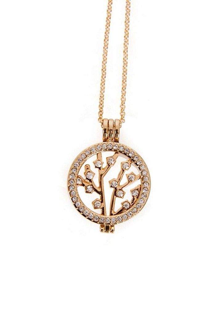 Interchangeable Medalion Tree of Life Pendant Necklace in Organza Gift Bag